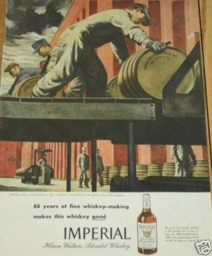 '46 Whiskey Ad~Barrel~Rackhouse~Distillery~Ludekens Art