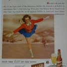 1943 Schlitz Brewing Co Milwaukee Wi Beer Ad~Ice Skaters Skating Rink Theme