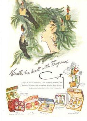 1946 Coty Perfume Fragrance Bottles Lovely Ad~40s