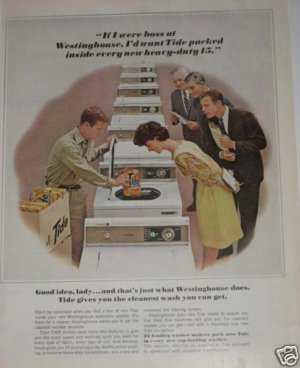 '64 TIDE Soap If I Were Boss at Westinghouse Washers Ad