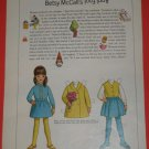 1968 Betsy McCall's April Fool Tricks Magazine Paper Doll & Outfits Page ~ 4/68