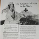 1943 WWII Wartime American Red Cross Nurse Ad Page~Greatest Mother in the World
