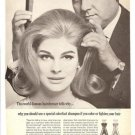 1965 Clairol Colorfast Hair Shampoo Ad~Enrico Caruso