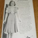 1938 Ad~Skater Sonja Henie Wears Double Mint Gum Dress