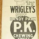 1926 Vintage Wrigley's Peppermint Flavor Chewing Gum Ad