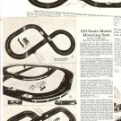 1965 Vintage Catalog Ad Pages for AURORA Scale Model Motoring Sets, Etc.~1960s