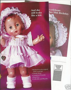 1995 Effanbee Candy Kid Doll Ad Pg/Advertisement~And she still looks like a kid.