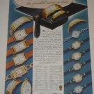 1937 Gruen Curvex Etc Watch Ad~Many pictured w/prices