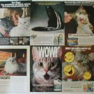6 Cat Ads~Ad Lot ~Black/White/Brown/Gray Happy Cats