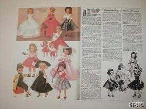 1958 American Character Toni,Betsy McCall,Sweet Sue Etc Dolls Catalog Ad~1950s