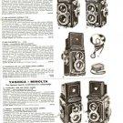 50s Vintage Camera Ad~Rollei/Rolleiflex/Yashica/Minolta/Argus/Kodak/Ansco/Spartu