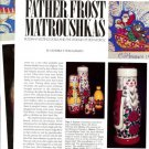 Article/Pics/Info on FATHER FROST MATROUSHKAS Russian & Chinese Nesting Dolls