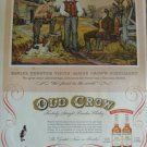 1954 Old Crow Whiskey Print Ad~Daniel Webster Visits James Crow's Distillery~50s