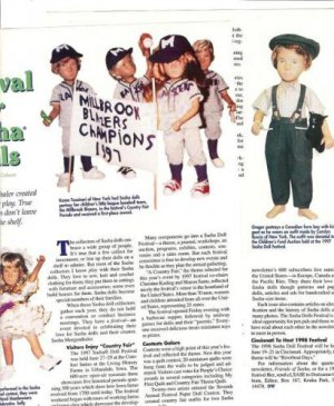 Article/Info on 1997 Urbandale IA Sasha Doll Festival