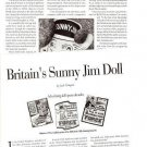 Article/Info on Britain's SUNNY JIM Cloth Doll