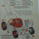 1955 Moto-Mower Constellation Power Lawn Mower Ad/Sunbeam Rotary Mower Ad~1950s