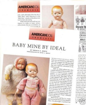 Article/Pictures/Information on Ideal Baby Mine Doll