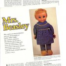Article/Picture/Info on Vintage Mattel Family Affair Mrs Beasley Cloth Doll