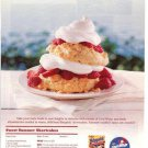 Bisquick Cool-Whip Strawberry Short Cakes/Shortcake Dessert Recipe Print Ad