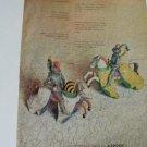 AZROCK Asbestos Tile Print Ad~Fencing~Fencers~Horses