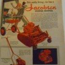 1955 Jacobsen Manor,Power-Propelled Rotary Mower,Riding Sulky Attachment Ad~50s