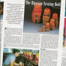 Interesting '94 Article/Pictures/Information on Russian Matryoshka Nesting Dolls