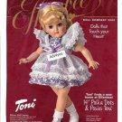 """Effanbee Doll Company 14"""" Polka Dots & Posies Toni Doll Ad Page~Sooooooo Cute!"""