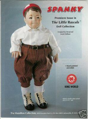 Hamilton Collection Little Rascals SPANKY Doll Ad