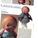 Interesting Article/Pics/Information on Old Horsman Bluebird/Blue Bird Dolls