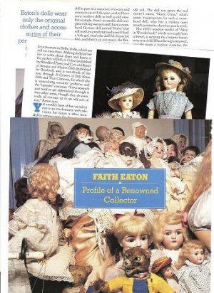 Interesting Article/Pics/Info on Faith Eaton Dolls