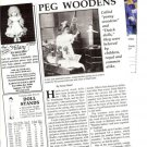 Interesting 1990 Vintage Article/Information on Peg (Penny/Dutch) Wooden Dolls
