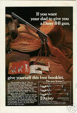 1974 Vintage Daisy Toy  BB Gun/Guns Ad