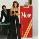 1983 More Cigarettes Ad~Pretty Lady/Man/Pool/Billiards