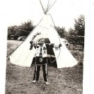 Native American Indian Chief Tepee Photo~Wisconsin Dell