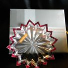 NACHTMANN'S CRYSTAL CHRISTMAS RED STAR PLATE(TELLER)...NEW IN BOX..BEAUTIFUL
