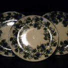 AUTHENTIC POLISH POTTERY 3 SALAD PLATES.BEAUTIFUL PIECES. @@TAKE A LOOK@@