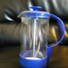 NICE BLUE GERMAN FRENCH PRESS@@@ MUST LOOK@@@ NICE FOR TAKE A LONG..OR A COFFEE