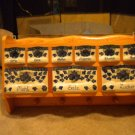 AUTHENTIC POLISH POTTERY WALL SPICE RACK.VERY STURDY.ONLY USED FOR DISPLAY******