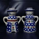 AUTHENTIC POLISH POTTERY CANDLE HOLDERS.BEAUTIFUL PIECES. @@TAKE A LOOK@@