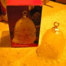 WALTHERGLAS GLOCKE BELL..CHRISTMAS PATTERN..FROSTED...NEW IN THE BOX