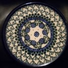"AUTHENTIC POLISH POTTERY 8 "" HOT PLATE .BEAUTIFUL PIECE. @@TAKE A LOOK@@"