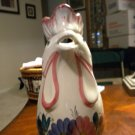 """VINTAGE ITALIAN ROOSTER(CHICKEN) PITCHER (STORY INCLUDED) 8"""" TALL"""