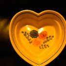 AUTHENTIC POLISH POTTERY HEART.SERVING BOWL BEAUTIFUL PIECE. @@TAKE A LOOK@@