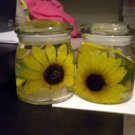 TWO ADORABLE SUNFLOWER GEL CANDLES...A MUST LOOK....NEVER BEEN LIT