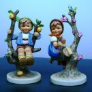 HUMMEL FIGURINE &quot;APPLE TREE BOY&quot;  #142/I& &quot;APPLE TREE GIRL # 141/I  TMK 7