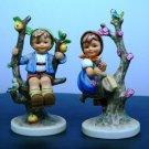 """HUMMEL FIGURINE """"APPLE TREE BOY""""  #142/I& """"APPLE TREE GIRL # 141/I  TMK 7"""