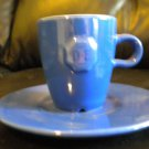 ORIGINAL DOUWE EGBERT COFFEE CUP/ PLATE.(DK BLUE) BOUGHT FROM DE'S HOLLAND STORE