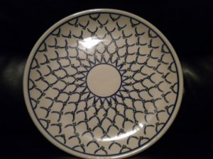 AUTHENTIC POLISH POTTERY LARGE SERVING PLATTER..MUST LOOK@@@BEAUTIFUL PIECE