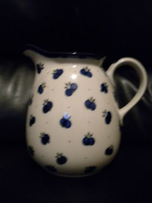 AUTHENTIC POLISH POTTERY PITCHER..MUST LOOK@@@BEAUTIFUL PIECE