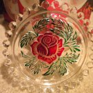 "GORGEOUS..GERMAN CRYSTAL..WITH ROSE CENTER....PIN DISH....4 1/2"" IN DIAMETER"